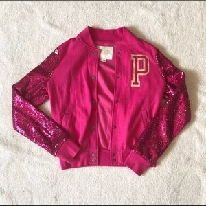 PINK Sequin Varsity Jacket